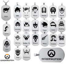 Buy Hot Sale Overwatch Stainless Steel Dog Tags OW Hero Logo Pendant Necklace Hero alliance decorations Chain for $1.83 in AliExpress store