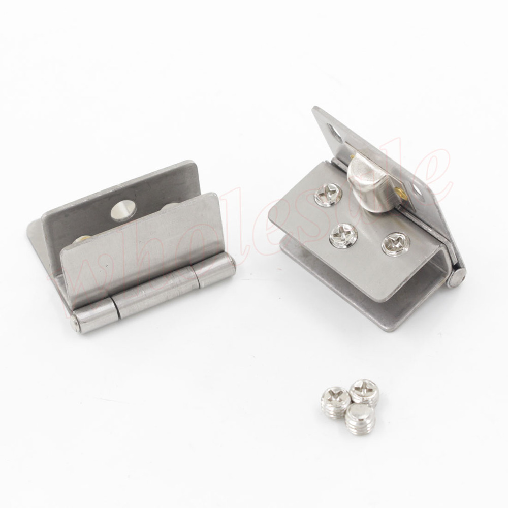 10pcs/lot Wholesale Price Glass Hinge Stainless Steel for 8-10mm Glass Thickness(China (Mainland))
