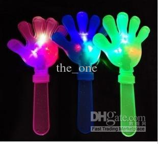 EMS Fast !! LED Flash Hand Claps Flashing Light Up Novelty Toy,glow Glaps,party Gifts from The_one,(China (Mainland))