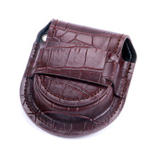 Vintage Fashion Brown PU Leather Jewelry Bag for Pocket Watch Watches Chain Pouch Holder Storage Case Box WB14