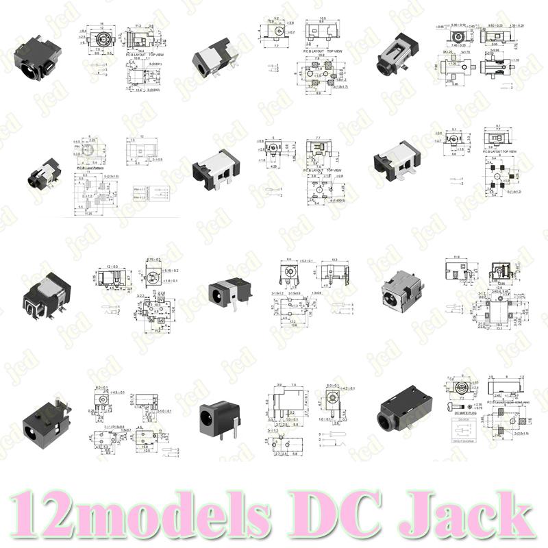DC Power Jack Connector Power Harness Port Plug Socket for Samsung Tablet PC Laptop 12 models(China (Mainland))