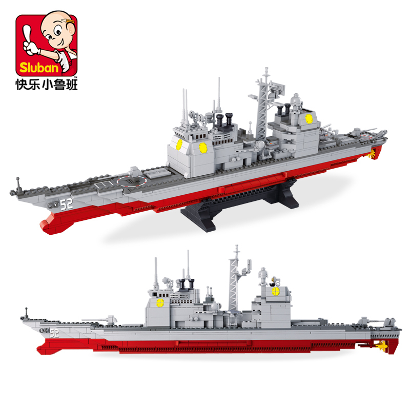 Sluban B0389 Large 3D DIY Construction Plastic 883Pcs Building Blocks Bricks Cruiser Ship Childrens Compatible With SY<br><br>Aliexpress