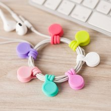 Silicone Magnet Coil Earphone Cable Winder Headset Type Cord Protecotor Protective Sleeves Cable Winder Cover for iphone ipad(China (Mainland))