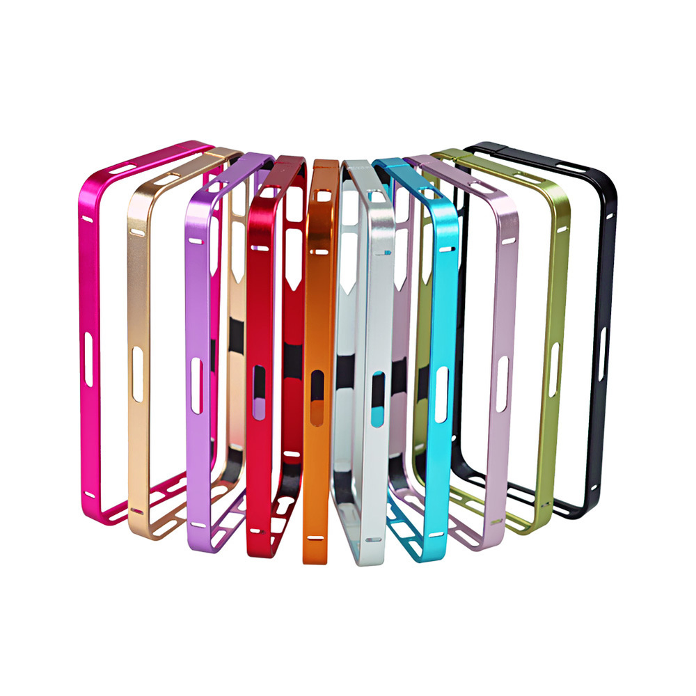 Luxury Ultra-thin 0.7mm Aluminun Metal Bumper Blade Case Frame For iPhone 5 5S Free Shipping(China (Mainland))