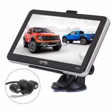 Best 7 inch Car GPS Navigation Truck Online Bluetooth AV-IN Sat Nav+wireless Rear View Camera GPS Living Car Navigator Free Map(China (Mainland))