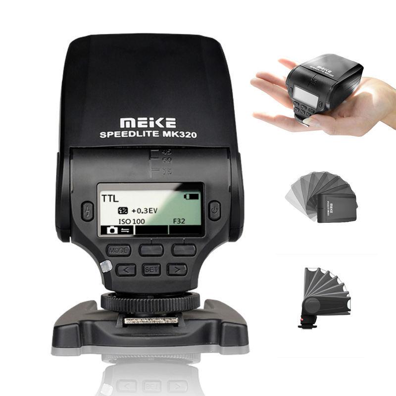 MEIKE MK-320 MK320 TTL Mini TTL High-speed Master Control Flash Light Speedlite for Nikon D7200 D810 D5300 D750 D3300 D5200 D610<br><br>Aliexpress