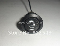 2pcs/lot,round  switch  carbon fibre seat heater.car seat heater,