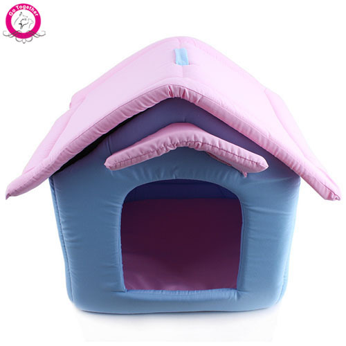 Luxury Small Dog Cat House Outdoor Portable Foam Padded Pet Nest Beds Puppy Kennel camas para perros(China (Mainland))