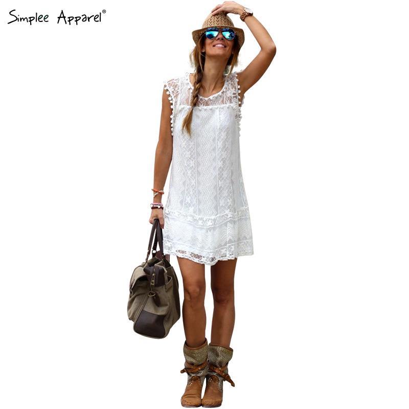 -ropa-de-encaje-sin-mangas-blanco-crochet-vestido-de-tirantes-de ...