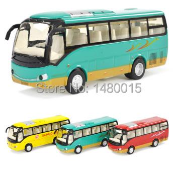 Free shipping! bus model,sightseeing bus,Educational,musical,flashing,pull back.Best gift!(China (Mainland))