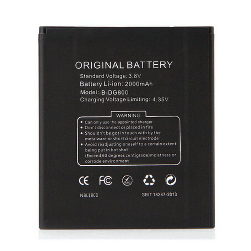 In stock Original Battery 2000mAh for DOOGEE VALENCIA DG800 Android 4.4  MTK6582 4.5 Inch cell phone