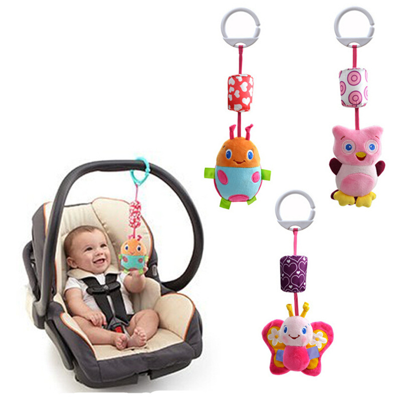 Wholesale- Hanging Bed toys baby bed hanging toy and ring the bell Baby stroller accessories 3 PCS / Lot -WJ-001(China (Mainland))