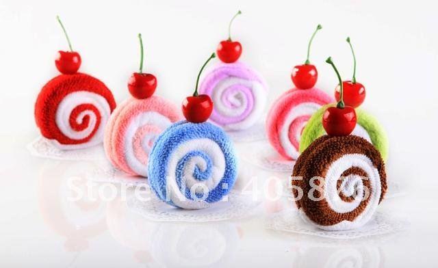 Lovely Creative Gift Wedding Birthday gift Towel, Cake valentine gift candy Towel, 30 pcs/lot Free Shipping(China (Mainland))
