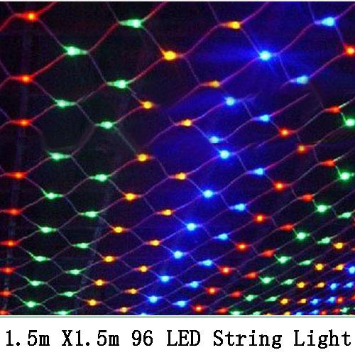 220V 1.5*1.5 m 96 Led net string light Christmas lights wedding ceremony light-in LED String ...