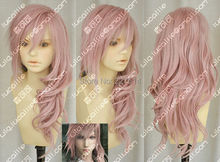 FREE shipping> >>>Final Fantasy 13 Lightning serah New Long Mix pink Cosplay Wig