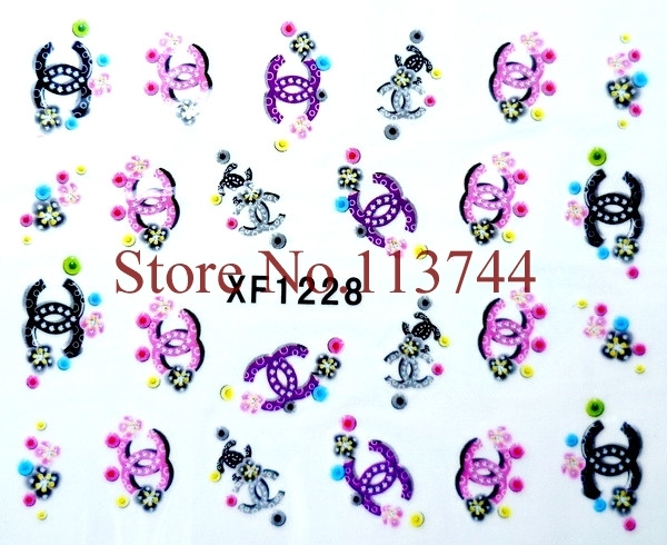 24pcs(=24designs) x 2D NEW Nail Art Water Transfer Stickers(1217-1240) -Free Shipping