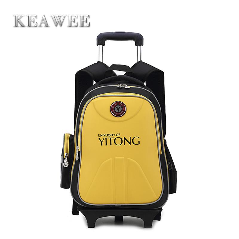 Hot Wheel Children School Bags Trolley Kids Bag 2015 Fashion Portable Luggage boys girls