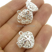 Free Shipping  4x Heart Cross Locket For Perfume Fragrance Essential Oil Aromatherapy Diffuser(China (Mainland))