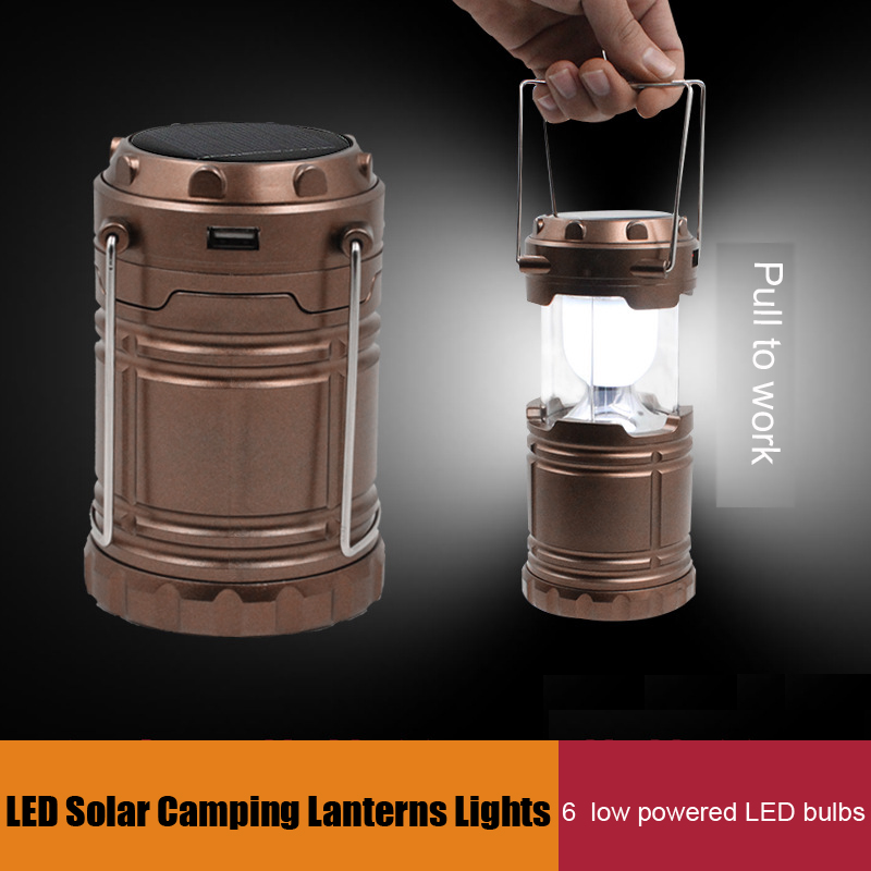 Scalable Solar Charging Camping Lantern Tent Lamp Emergency Lights Suitable For Hiking Camping Emergencies Charging for Phone(China (Mainland))