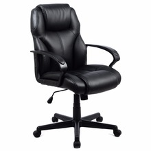 PU Leather Ergonomic High Back Executive Computer Desk Task Office Chair Black Free Shipping CB10053(China (Mainland))