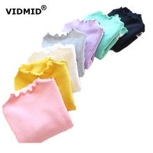 Buy VIDMID Girls top long sleeve t-shirts kids 100% cotton solid clothes spring autumn children t-shirts fleece 1056 02 for $7.19 in AliExpress store