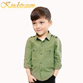 Kindstraum 2017 New Spring Boys Shirts Fashion Kids Camouflage Shirts for Boys 4 16Y Cotton Solid