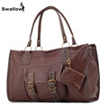 Vintage Large Capacity Thread Bags Handbags Women Famous Brands Retro Fashion Leather Crossbody Bags For Women