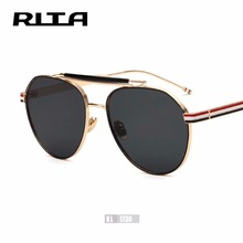 Buy 2017 RITA Thom Brown Oval Mirror Women Sunglasses TB Brand Designer Men Casual Eyewear Retro Shades UV400 Gafas de sol for $14.99 in AliExpress store