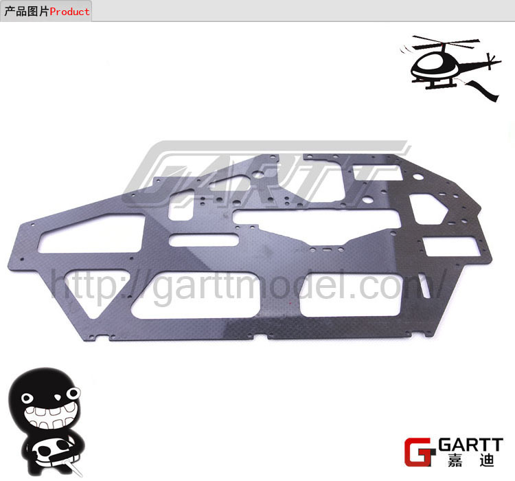 Freeshipping GARTT GT700 Carbon Fiber Main Frame Assembly Fits Align Trex 700 RC Helicopter<br><br>Aliexpress