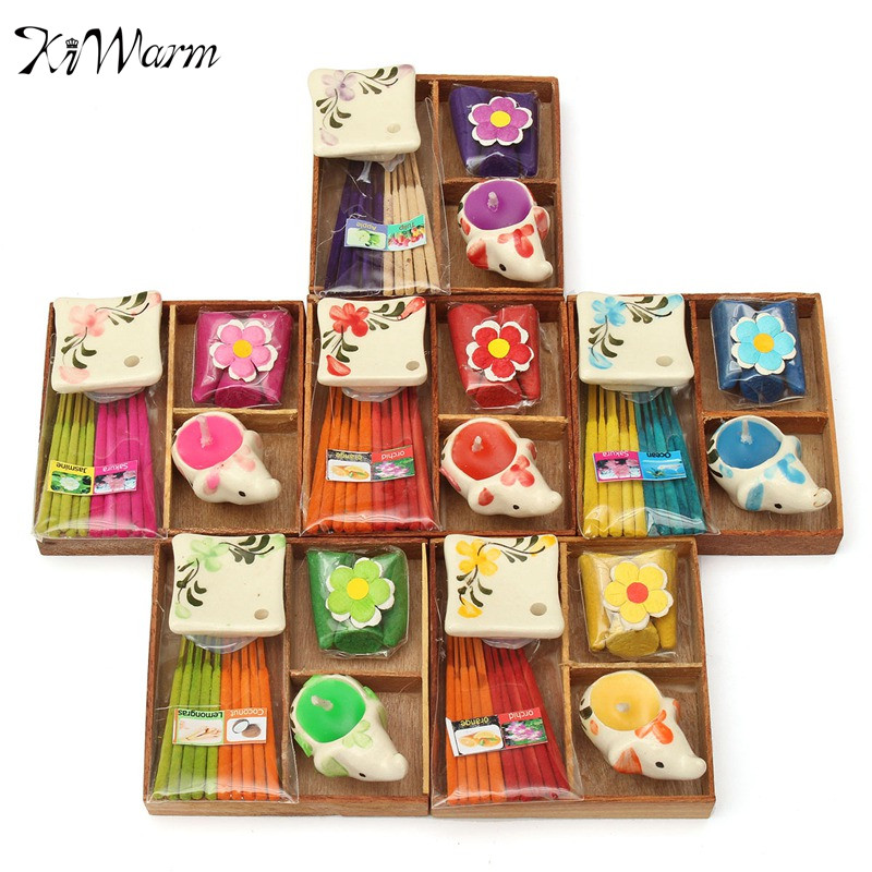One Set Thailand Incense Gift Box Aromatize Line Incense Tower Incense Animal Candle Dish Tray Indoor Home Living Room Decor(China (Mainland))