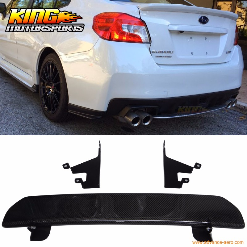 Fit For 2015-2016 Subaru WRX STI 4Dr Rear Bumper Lip Diffuser - Carbon Fiber CF