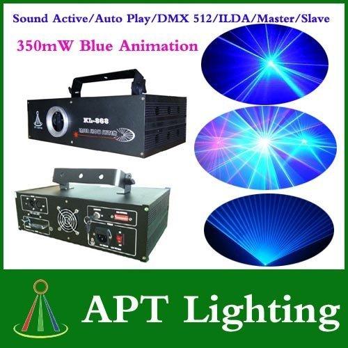 AC100V-250V,50/60Hz 350mW Blue Animation Laser Stage Light Laser Disco DJ Party Light free shipping by DHL