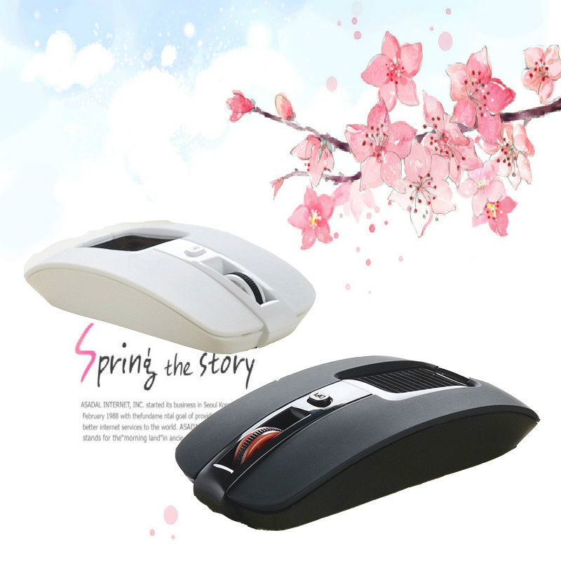 2015 Blue Light 2.4GHz Wireless Mouse Portable Cordless Game Mice for Computer PC Laptop Desktop Magic Mouse Right-handed Design(China (Mainland))