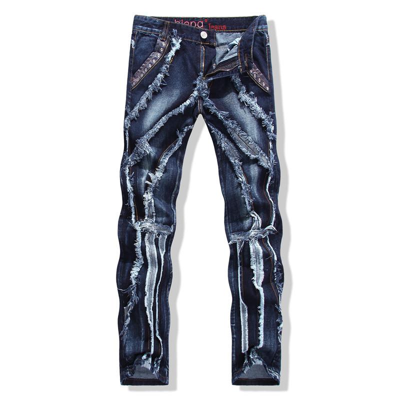 Mens Patchwork Pants Unique Design Mens Pat...