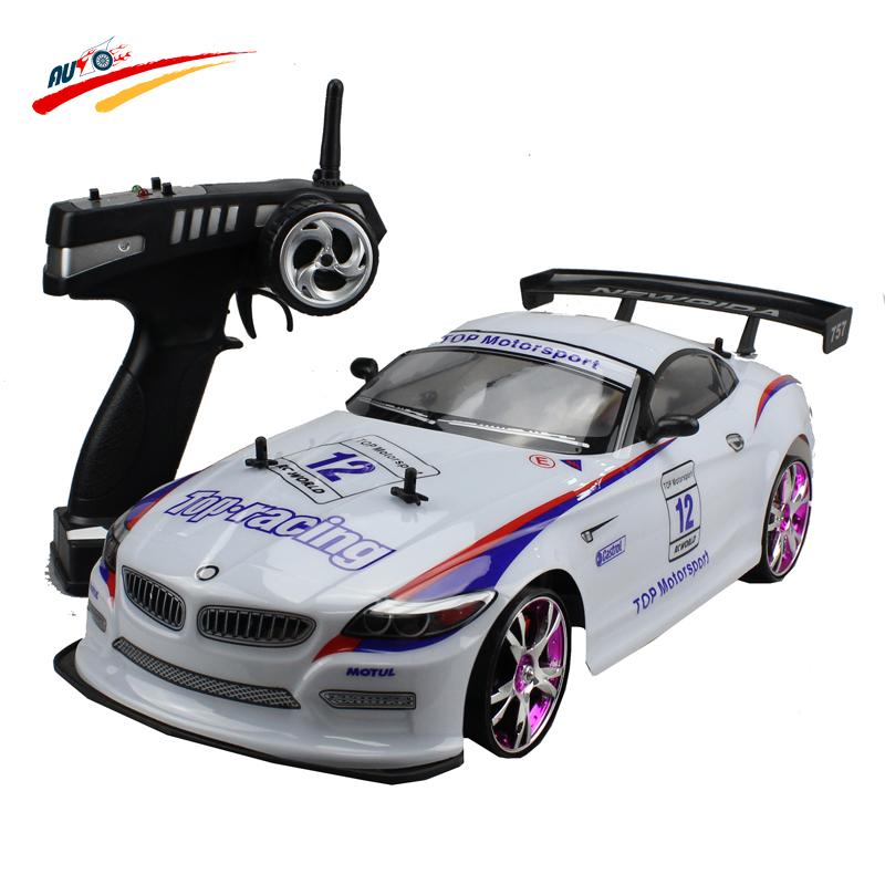 Large RC Car 1:10 High Speed Racing Z4/M6 Championship 2.4G 4 Wheel Drive Radio Control Sport Drift Car Model electronic toy(China (Mainland))