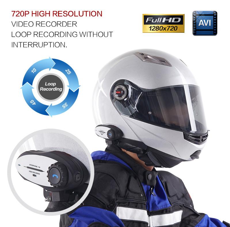 Купить 2016 Новый Многофункциональный Мотоциклетный Шлем Интерком Переговорные Гарнитуры Bluetooth и Видео Записи и Функцией FM
