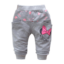 2015 autumn new cotton Cartoon cute butterfly pattern baby pants baby girls leggings 0-3 year baby harem pants