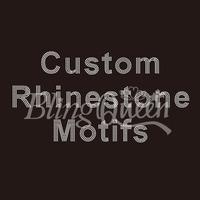 75PCS/LOT Custom Rhinestone Motifs Hot Fix Iron On Transfers
