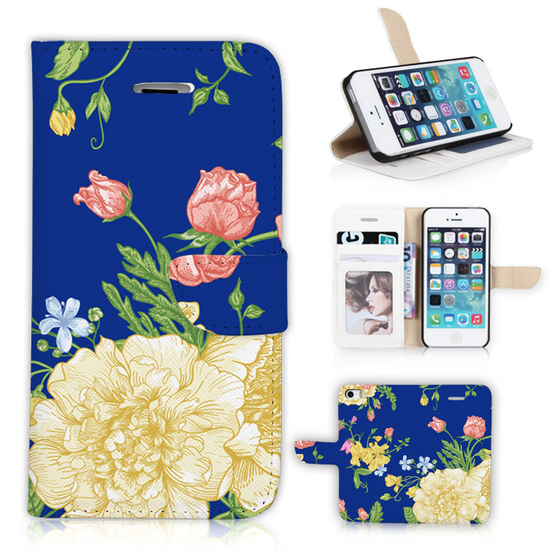 Vivid New Arrival Skin P017-5G Cover for iphone 5 5s 5g BTD Rose Bud Flowers Mobile Phone flip Case Purse Wallet Gift holster(China (Mainland))