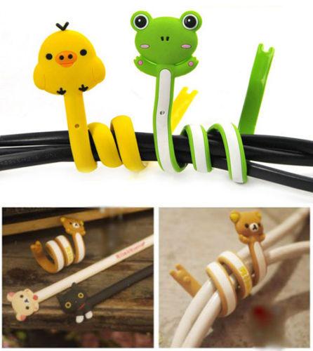 Lot 2 pcs Animal Long Winder Wrap Cable Holder Headphone Earphone Cord Wire Organizer(China (Mainland))