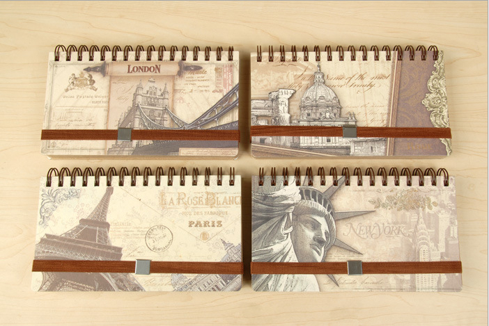 Free Shipping/New vintage paris agenda/planer/Notepad/Memo/Paper notebook/note book/Fashion Gift/Wholesale(China (Mainland))