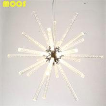Monder Simple White Acrylic Dandelion Chandeliers Dinging Room Restaurant Light Fixtures Home Lighting Suspension Luminaire(China (Mainland))