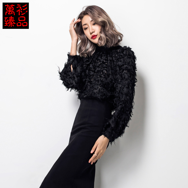 2015 new winter shirt thick section bubble sleeve sweater coat female Korean PlushОдежда и ак�е��уары<br><br><br>Aliexpress