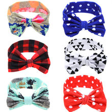 1PC Infant Baby Bow Hnot Headband Girls Turban Knot Kids Floral Hair Band Free shipiing