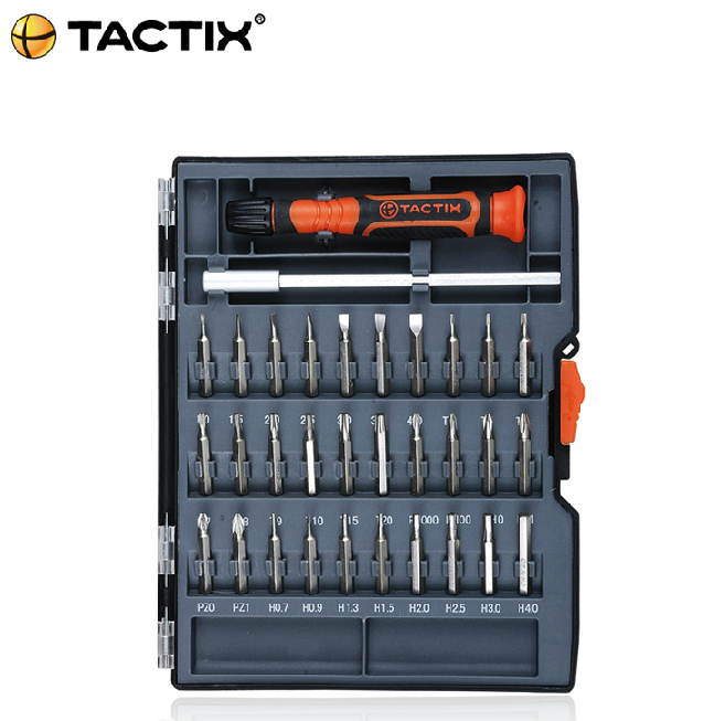 Free Shipping TACTIX 32 pcs in 1 Precision Star Tor Flat Hex Philips Bits Screwdriver Mutifuctional Tools Set combination(China (Mainland))