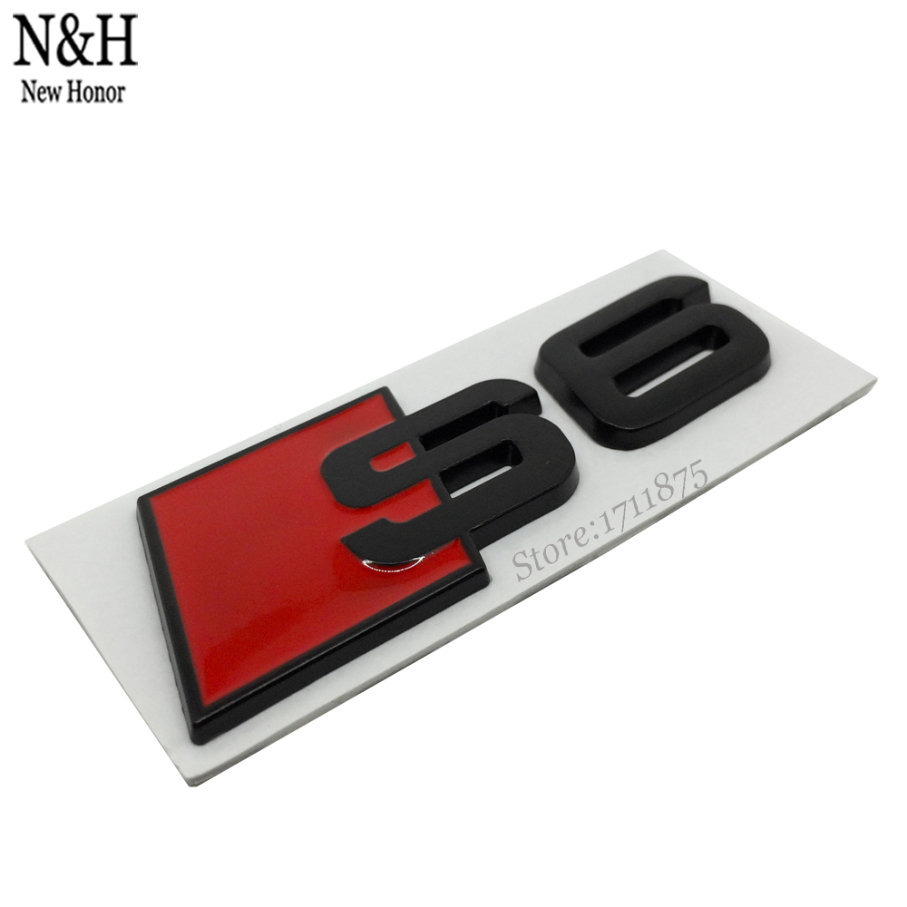 Accessories Metal Emblem For RS6 RS 6 Sign Sticker Rear Badge Logo For Audi Quattro A6 A6L S6 V8 TFSI TT A3 A4 A5 Car Styling(China (Mainland))