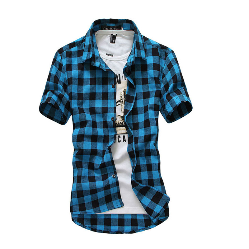 summer 2016 shirt for men fashion chemise homme red and