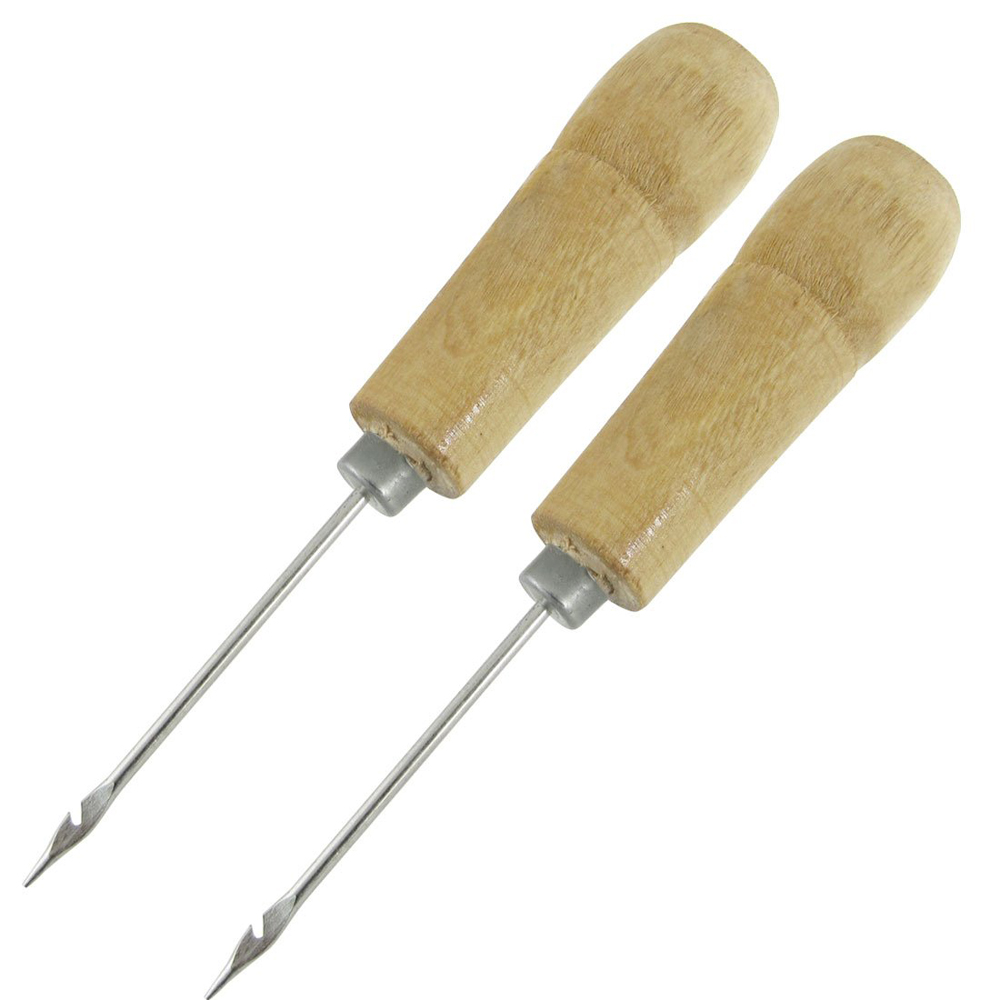 Hot! 2 Pcs Wooden Handle Sewing Awl Speedy Hand Stitcher<br><br>Aliexpress
