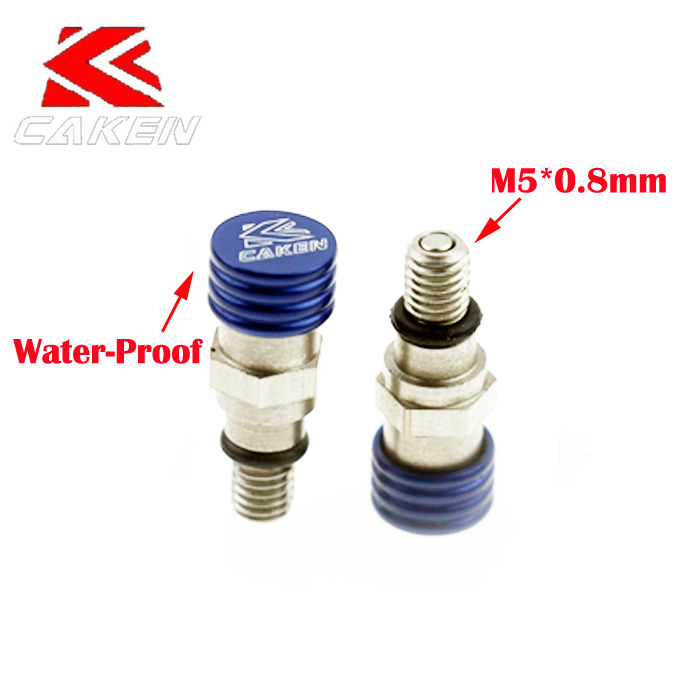 Blue M5*0.8mm Fork Bleeder Fork Relief VALVE For CRF 250 450 YZ125 WR250 KXF Dirt Pit Bike Motocross Motorcycle Free Shipping(China (Mainland))