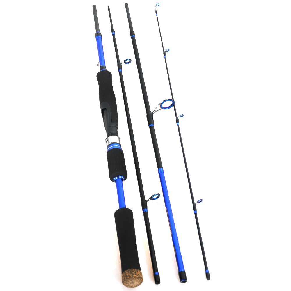 2 1 2 4 carbon blue 4 section saltwater fishing for Salt water fishing poles